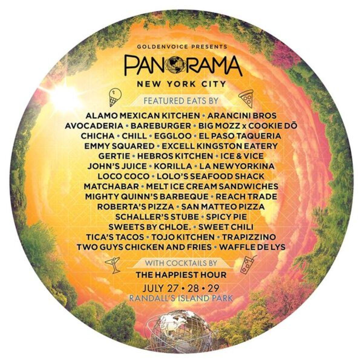 Panorama 2018 Food lineup