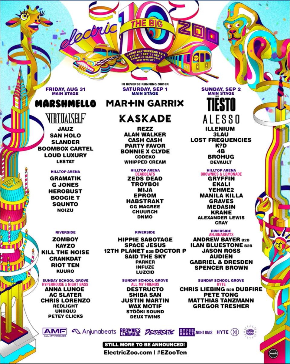 Electric Zoo - 2018 lineup