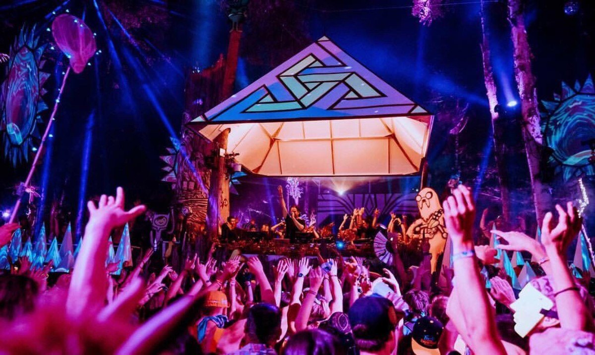 Opiuo performing at the Fractal Forest stage at Shambhala Music Festival