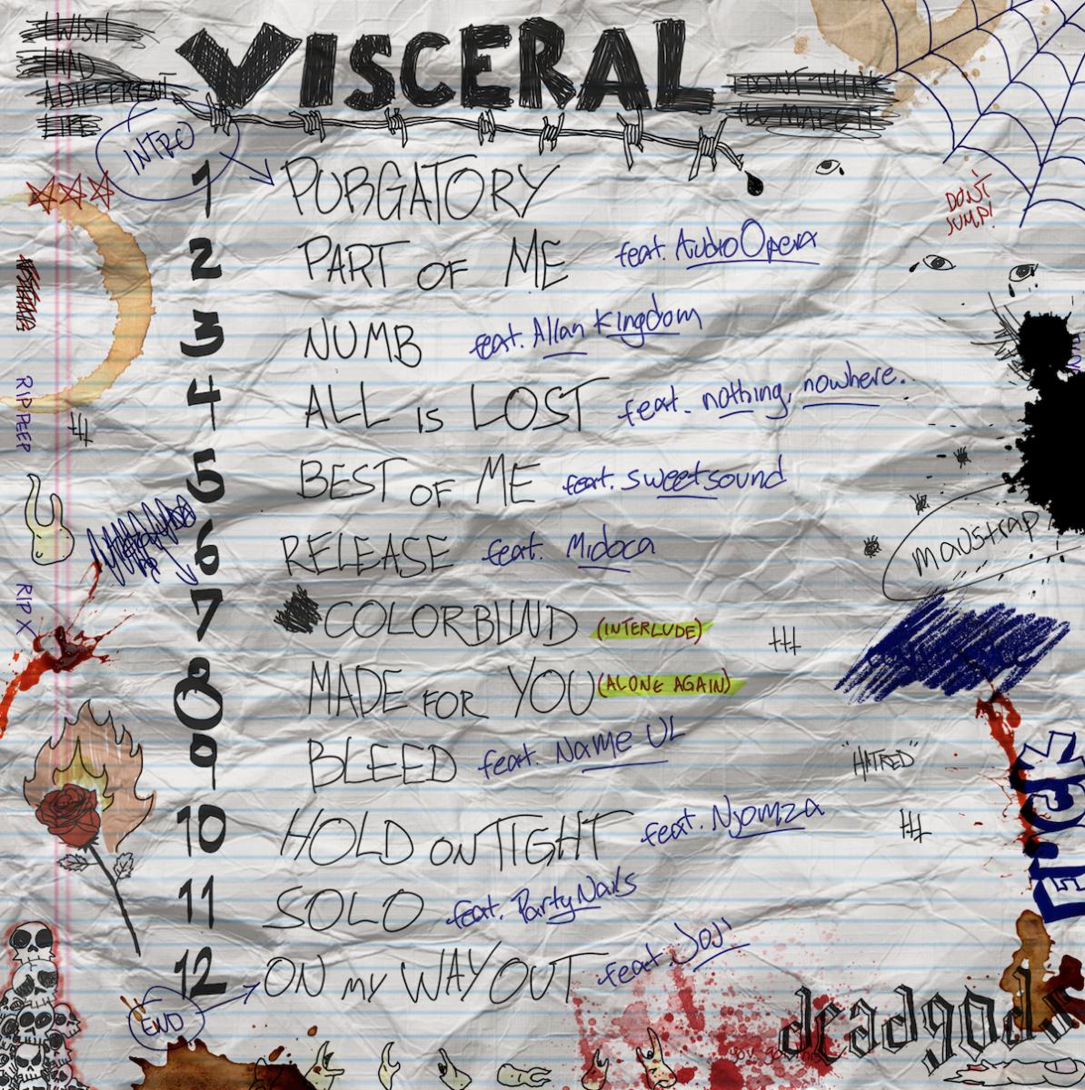 VISCERAL TRACKLIST