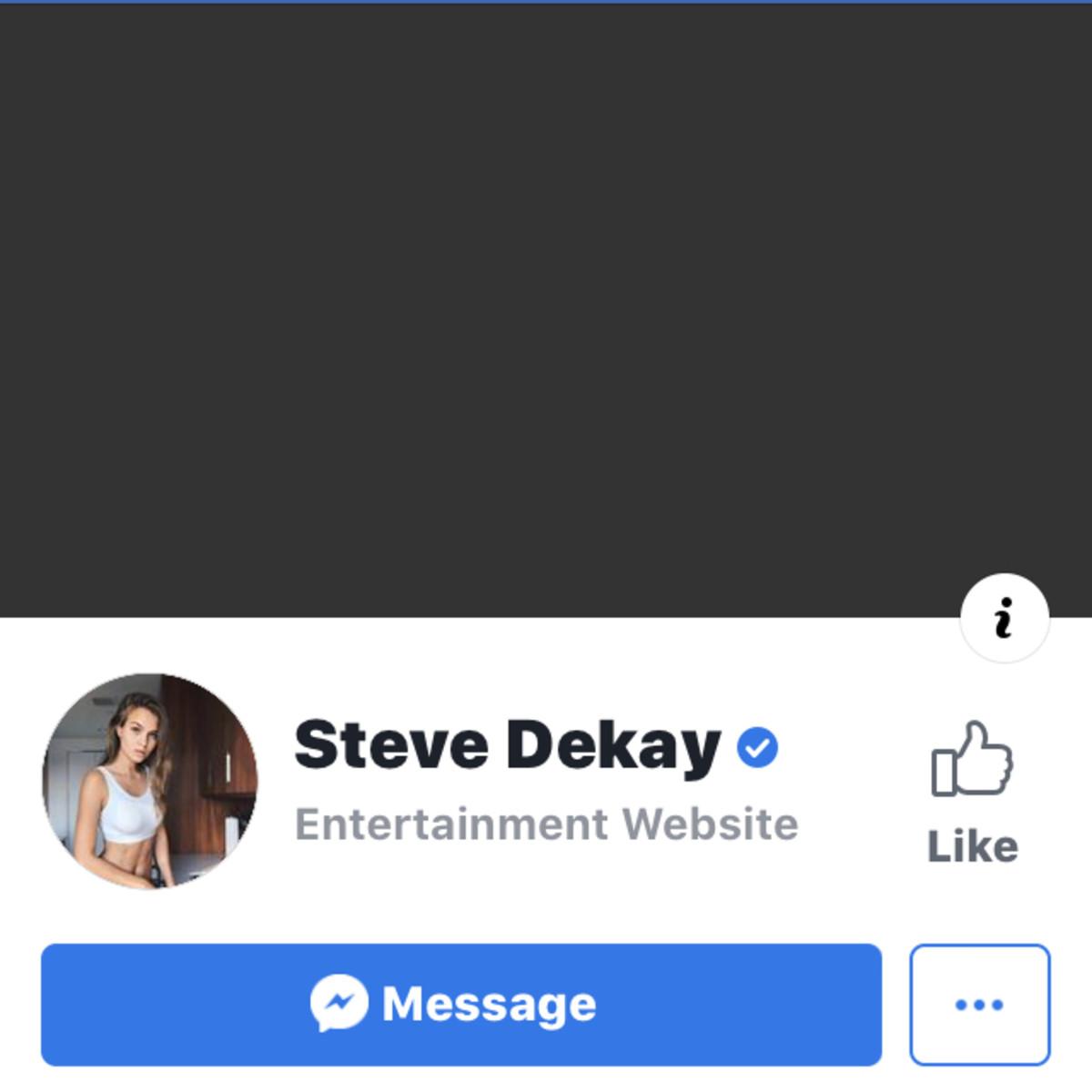 Steve Dekay Fraudulent Facebook Page.
