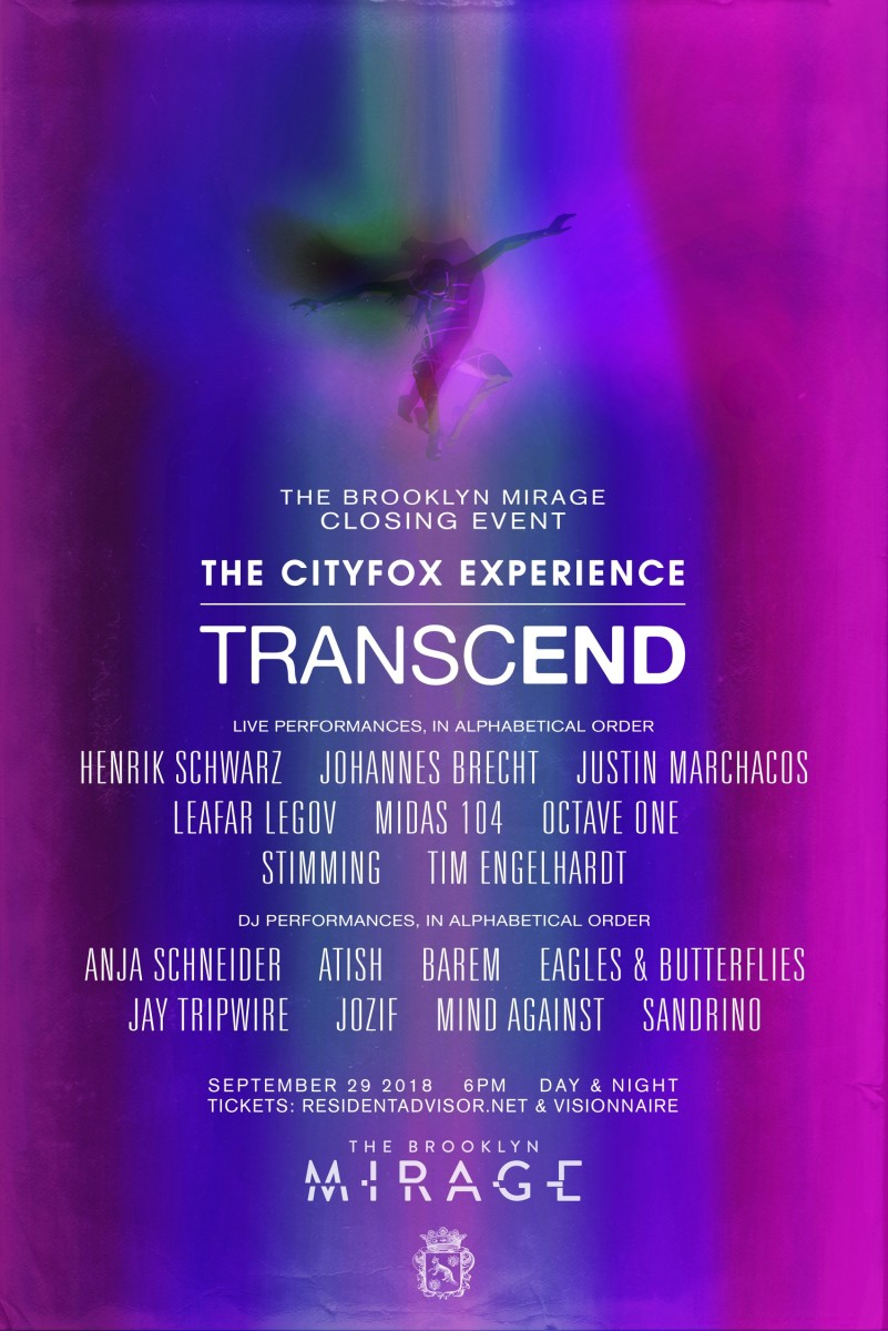 Cityfox Experience: Transcend - September 2018