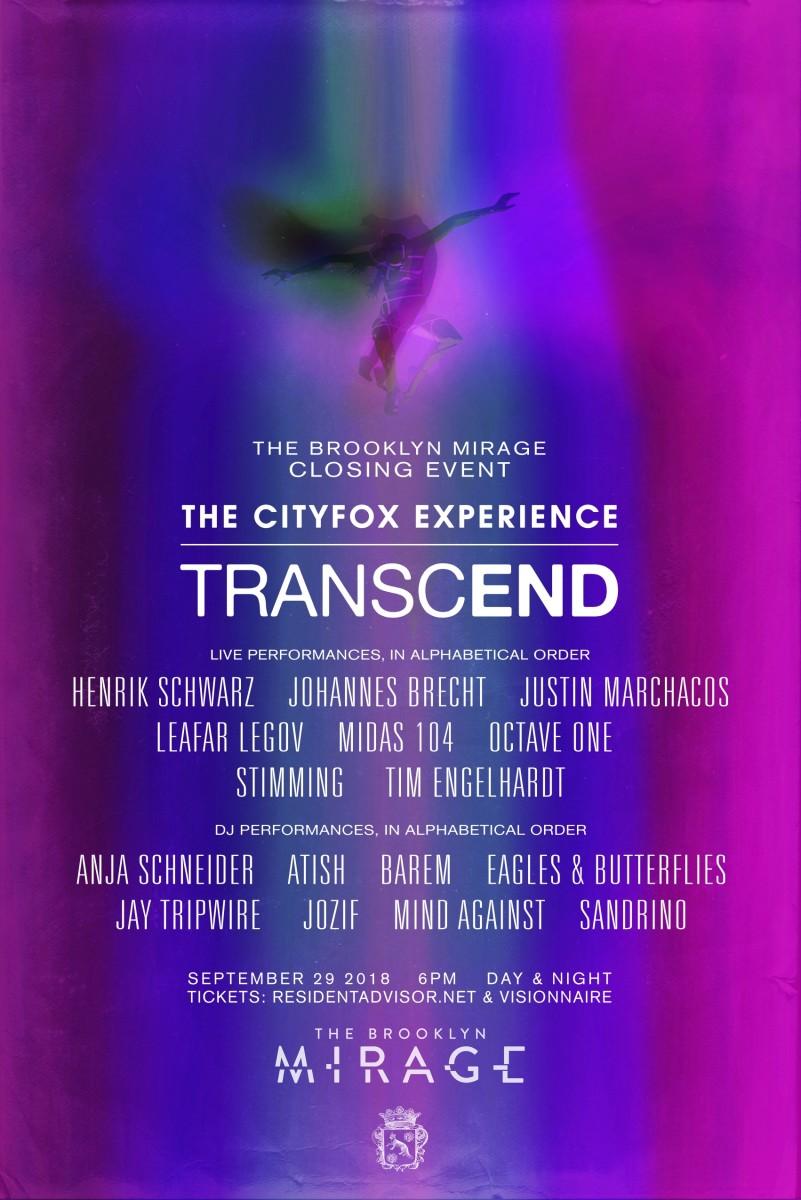 Cityfox Experience: Transcend - September 2018