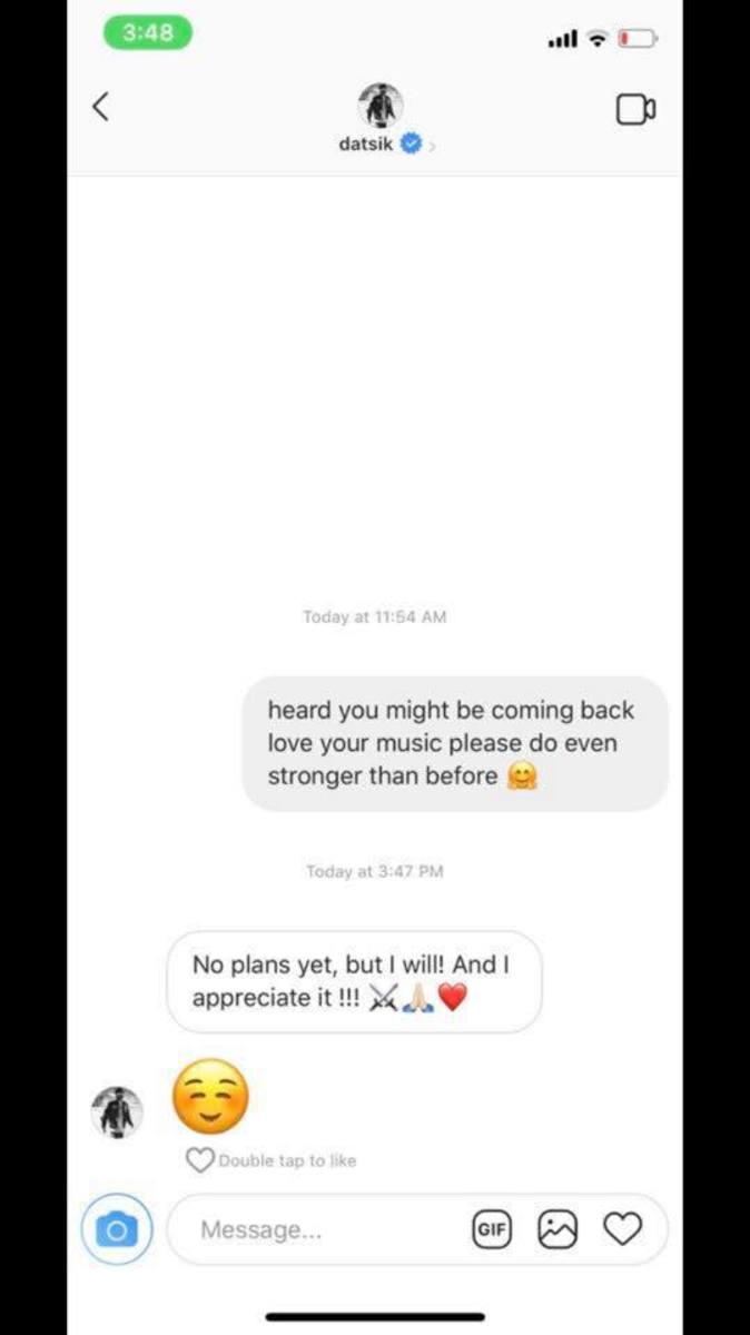 Datsik Hints At Potential Comeback Via Instagram Direct Message