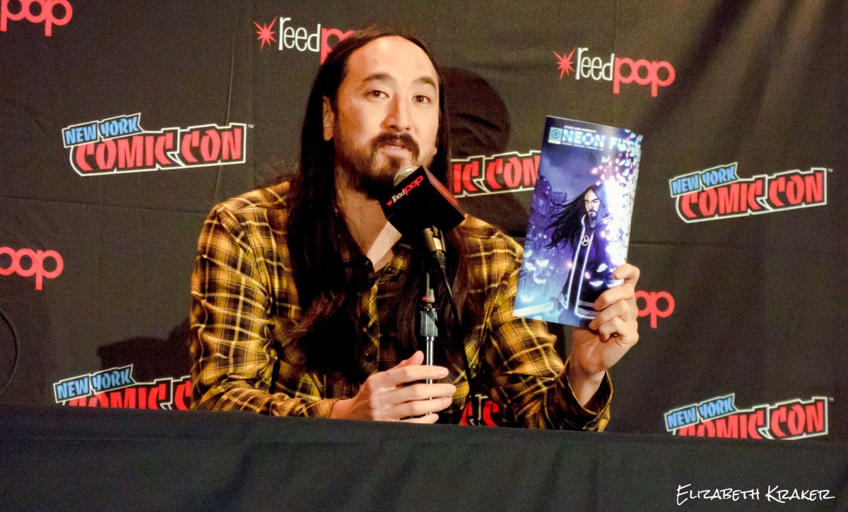Steve Aoki at the New York City Comic Con