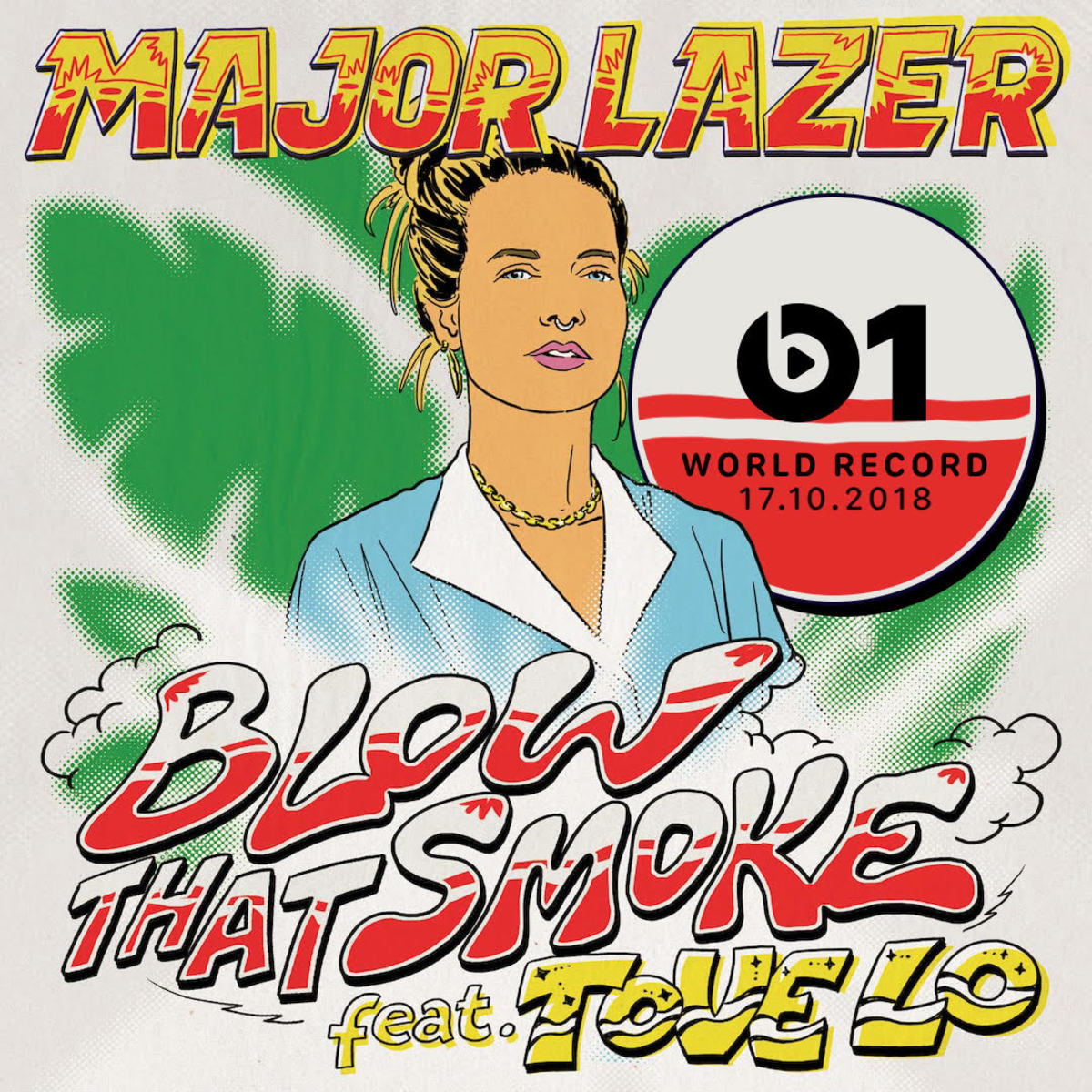 "Artwork for ""Blow That Smoke"" featuring Tove Lo by Major Lazer."