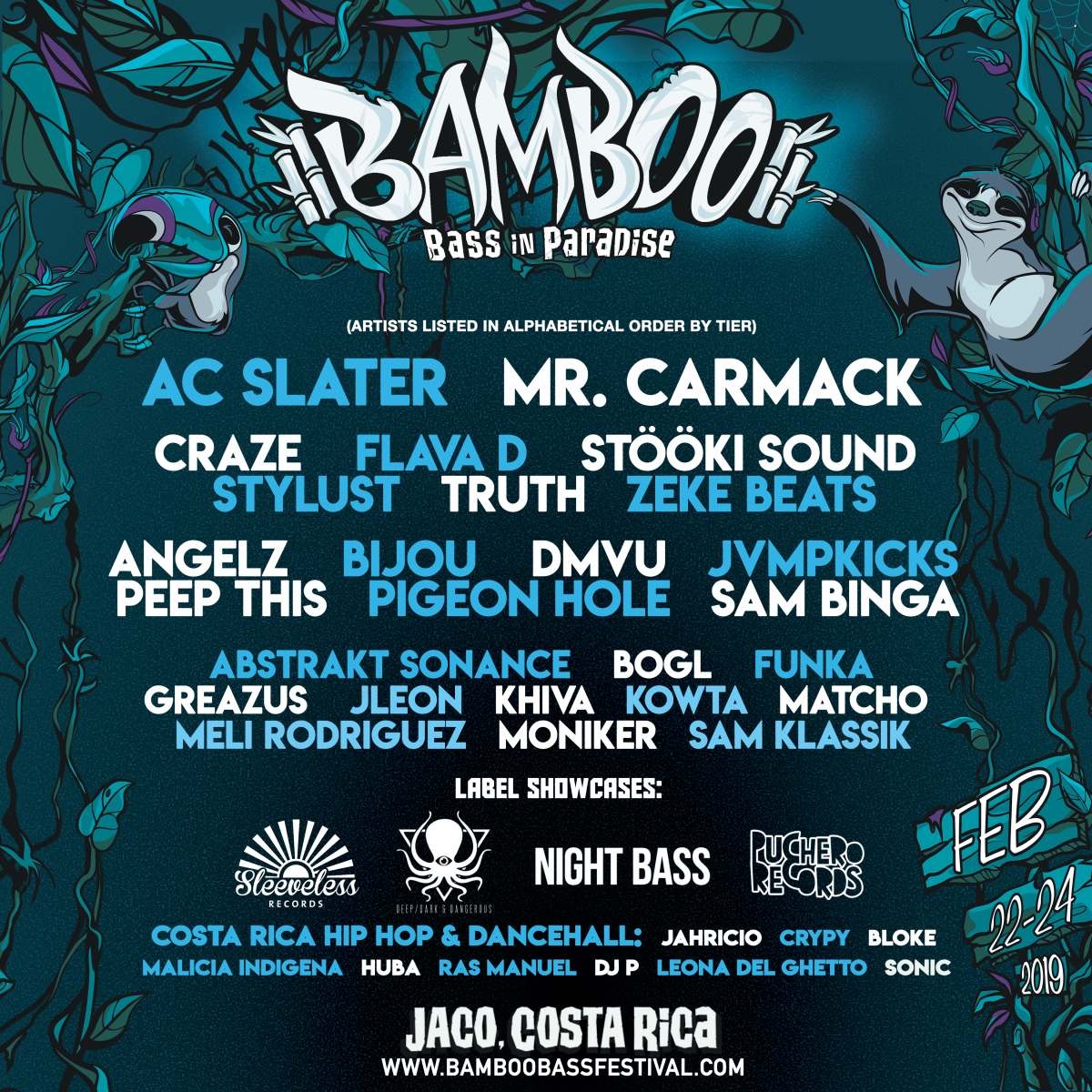 "Bamboo Bass Festival Lineup - ""Bass In Paradise"""