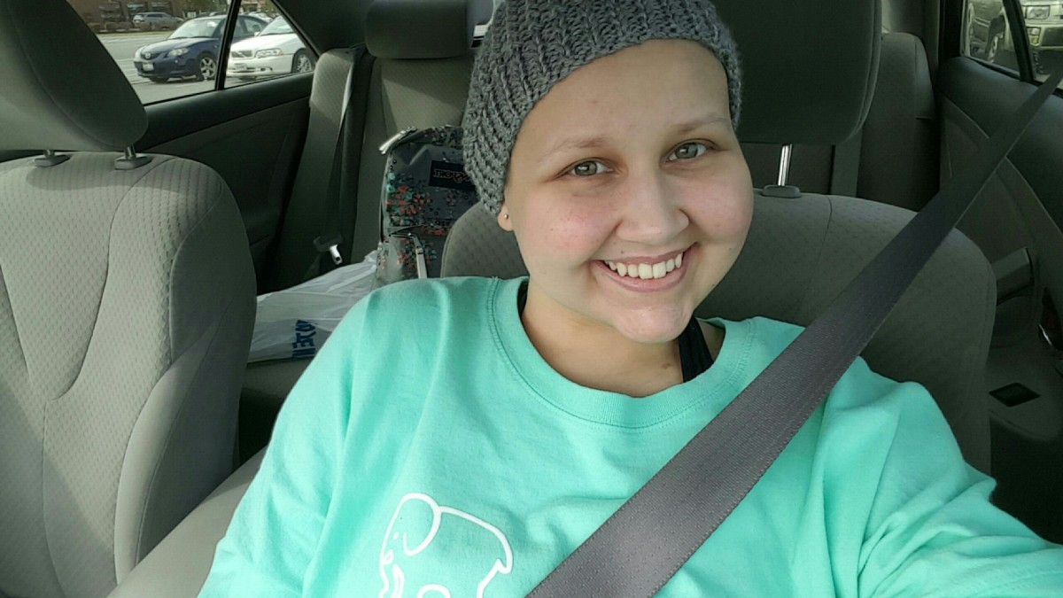 Last cycle of chemo, October 2016. I'll never forget how happy I was that day!