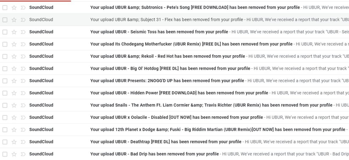 """""""Hey so SoundCloud looks like somebody mass copyright striked my account is there somebody I can speak to because this is a false flag and Im going through the process right now to fix all of this"""" - @uburdub"""