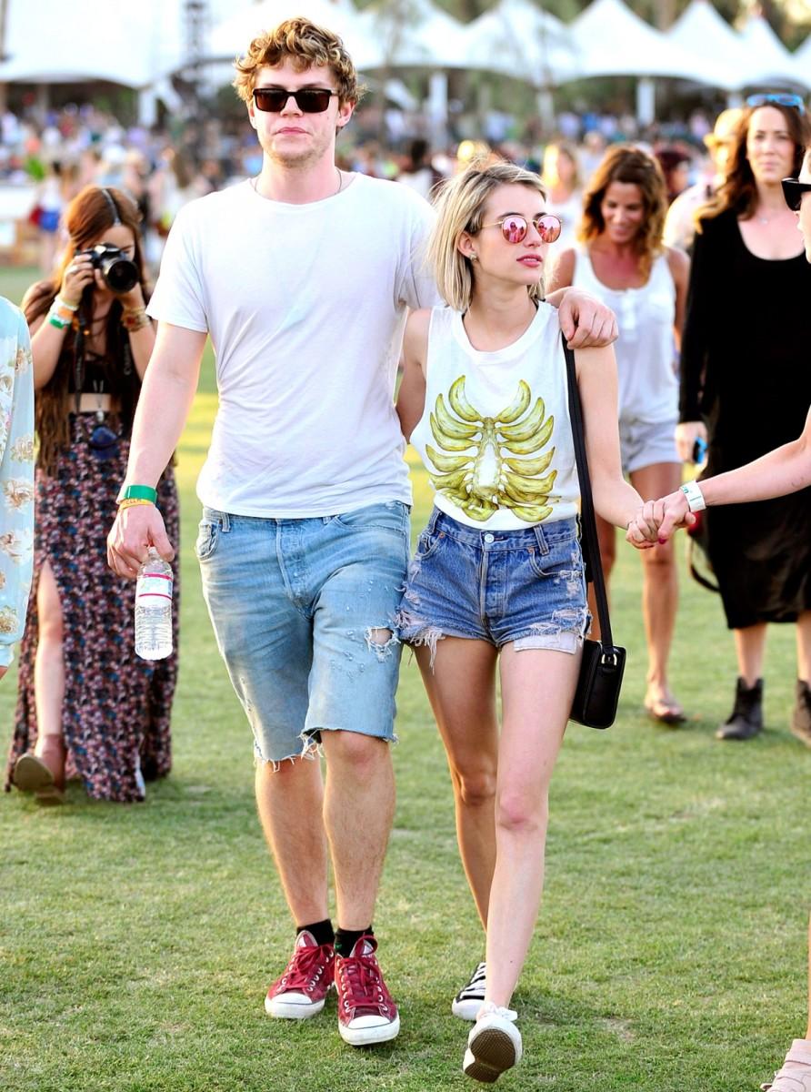 Evan Peters At Coachella Music Festival