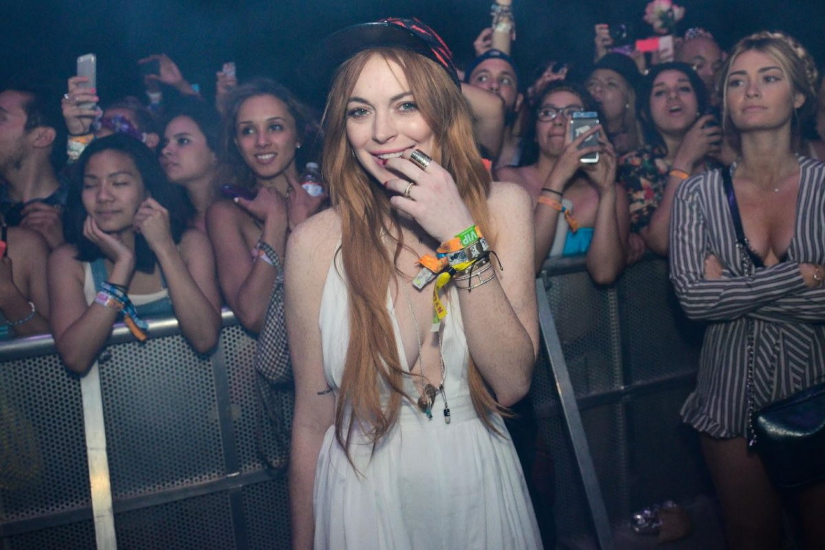 Linday Lohan at EDM Concert