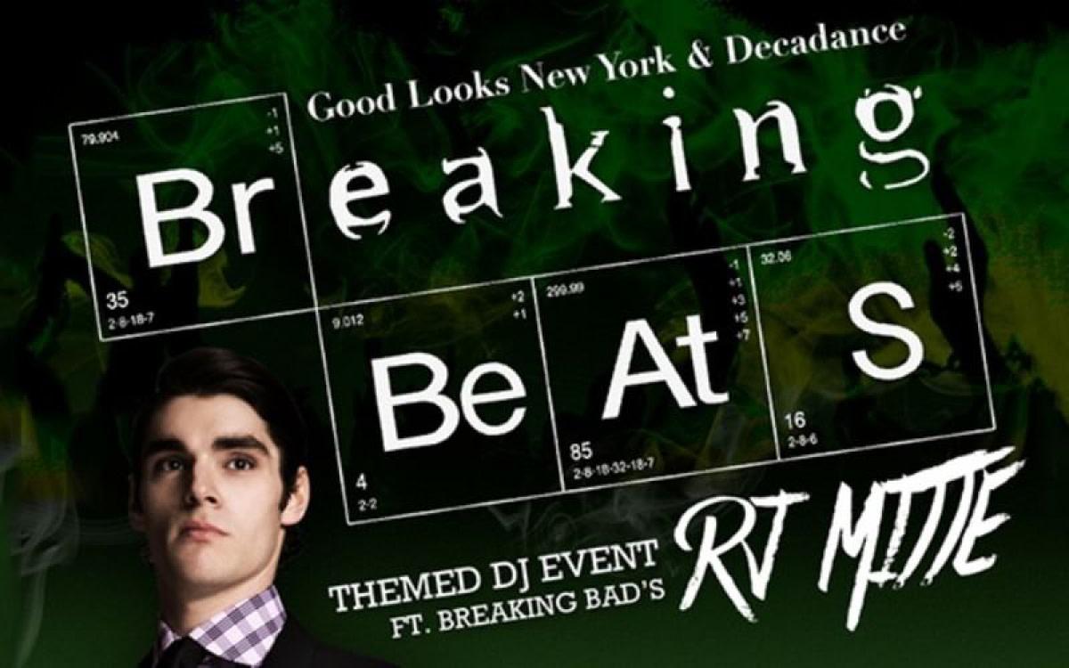 RJ Mitte (Walt Jr.) from Breaking Bad Plays DJ Event