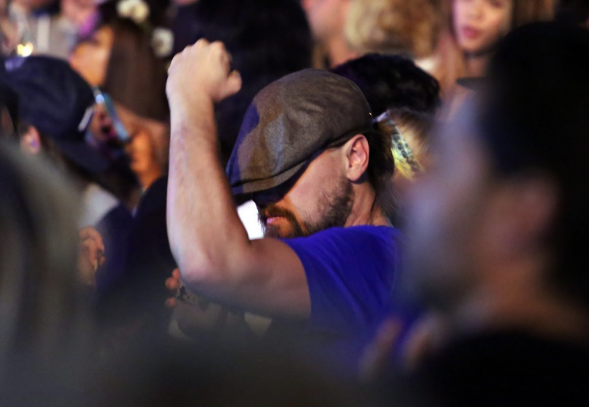 Leonardo DiCaprio Dance Moves at Coachella Music Festival
