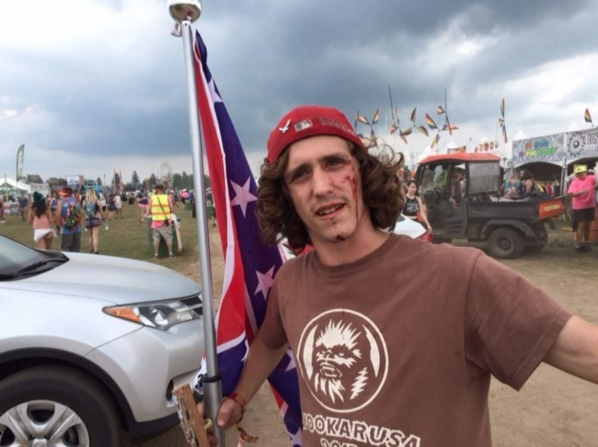 Fan Brings Confederate Flag to Electric Forest