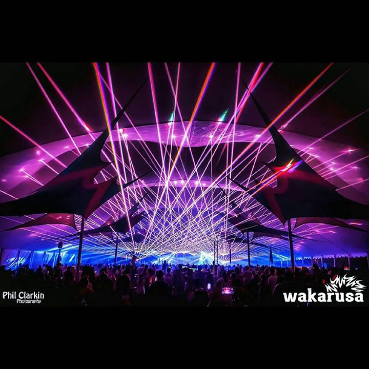 Savoy Laser Lightshow at Wakarusa Music Festival