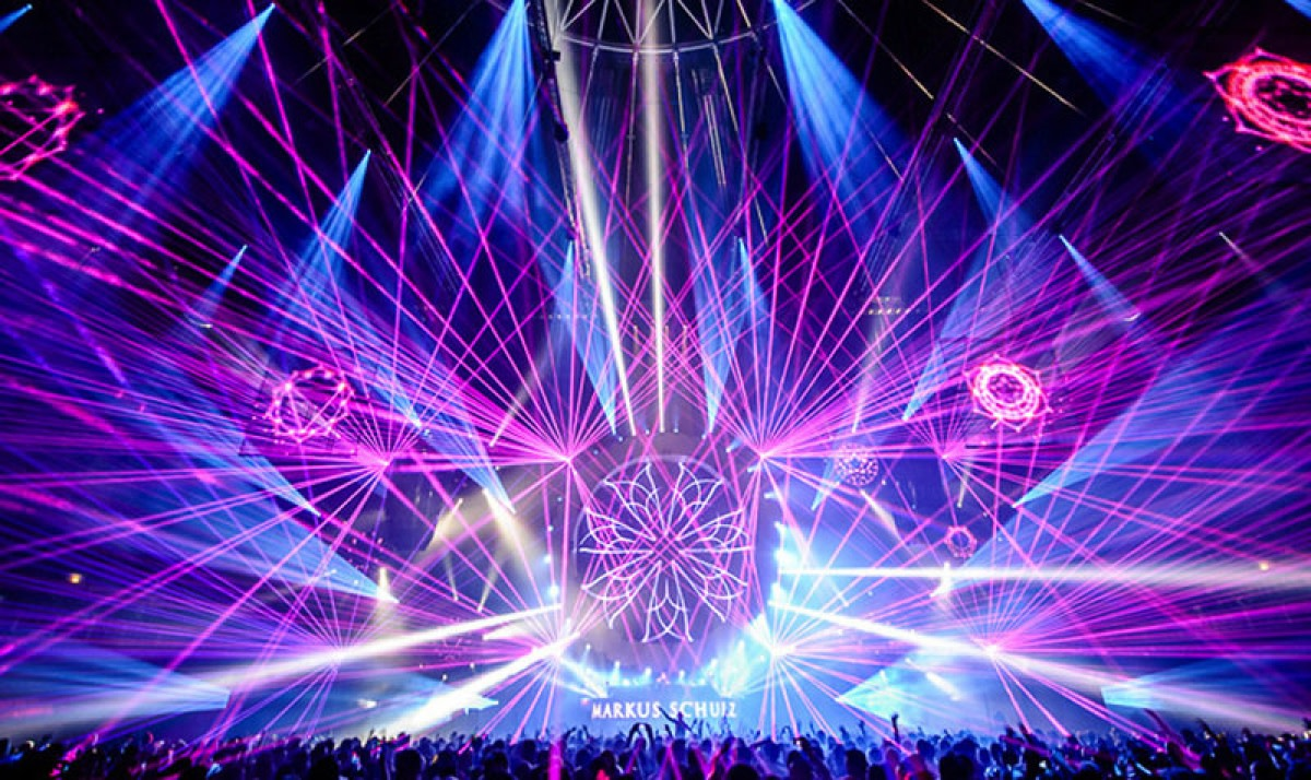 Markus Schulz Laser Lightshow on Tour