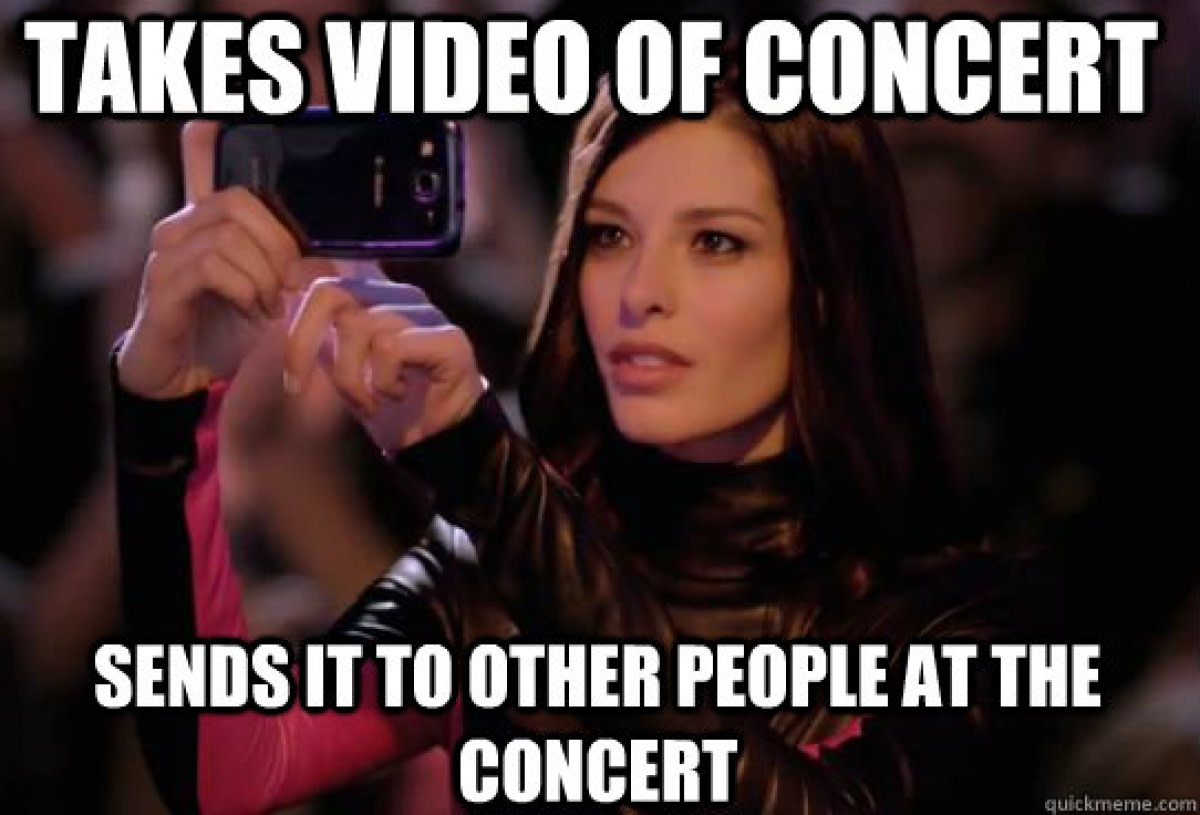 Takes Video Of Concert (Meme)