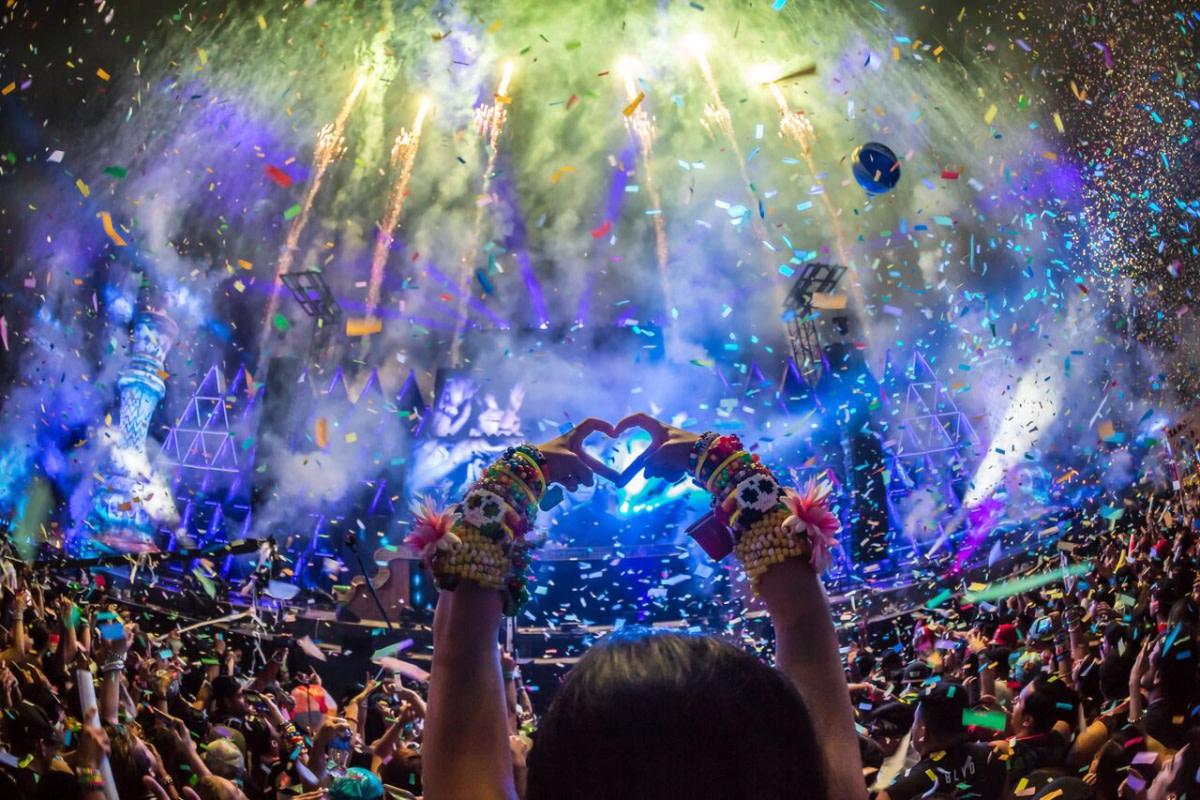 Music Festival Crowd Photo + PLUR Raver