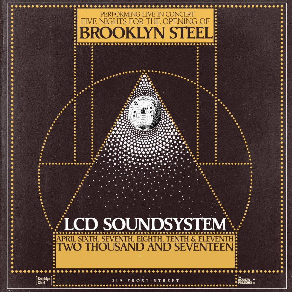 LCD Soundsystem - Brooklyn Steel flyer