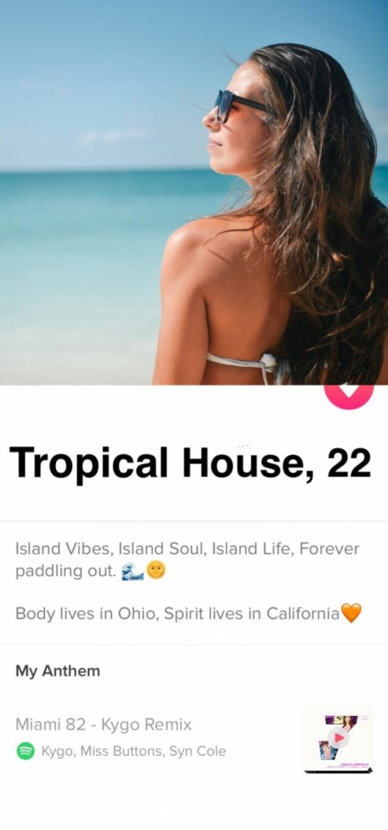 tropical house tinder