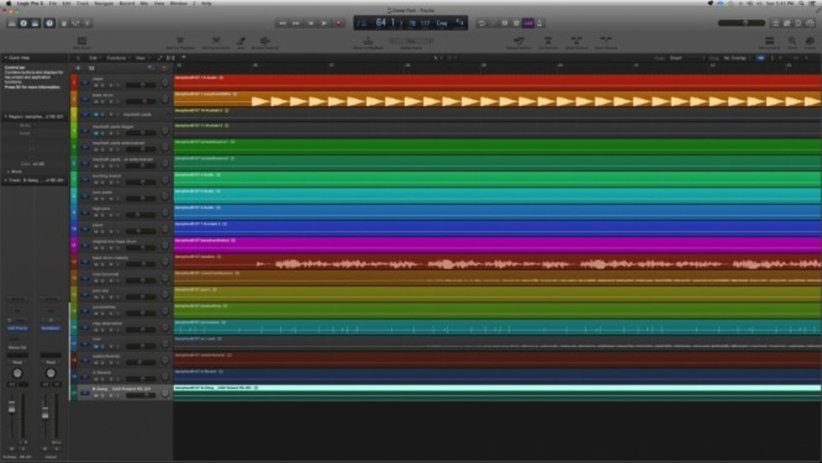 Logic Pro X Color Tracks