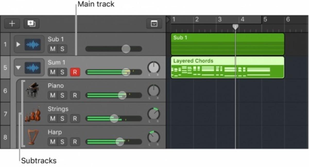 Logic Pro X Condense Tracks