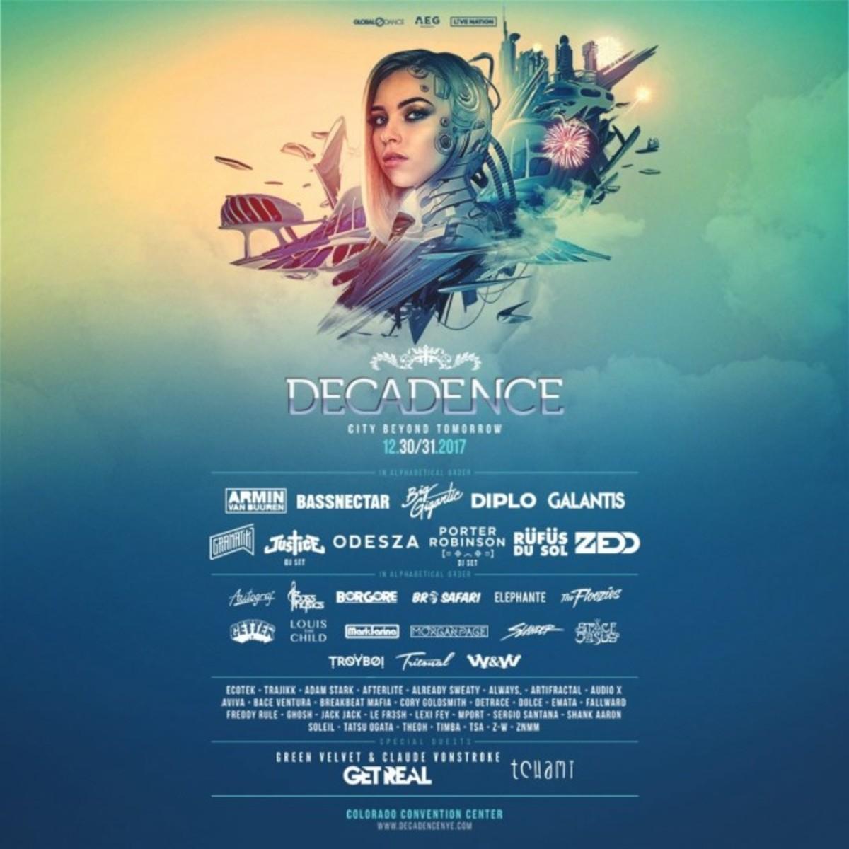 Decadence 2017 Lineup