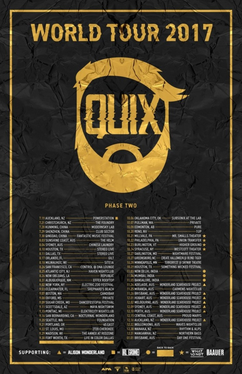 QUIX World Tour 2017 Phase 2