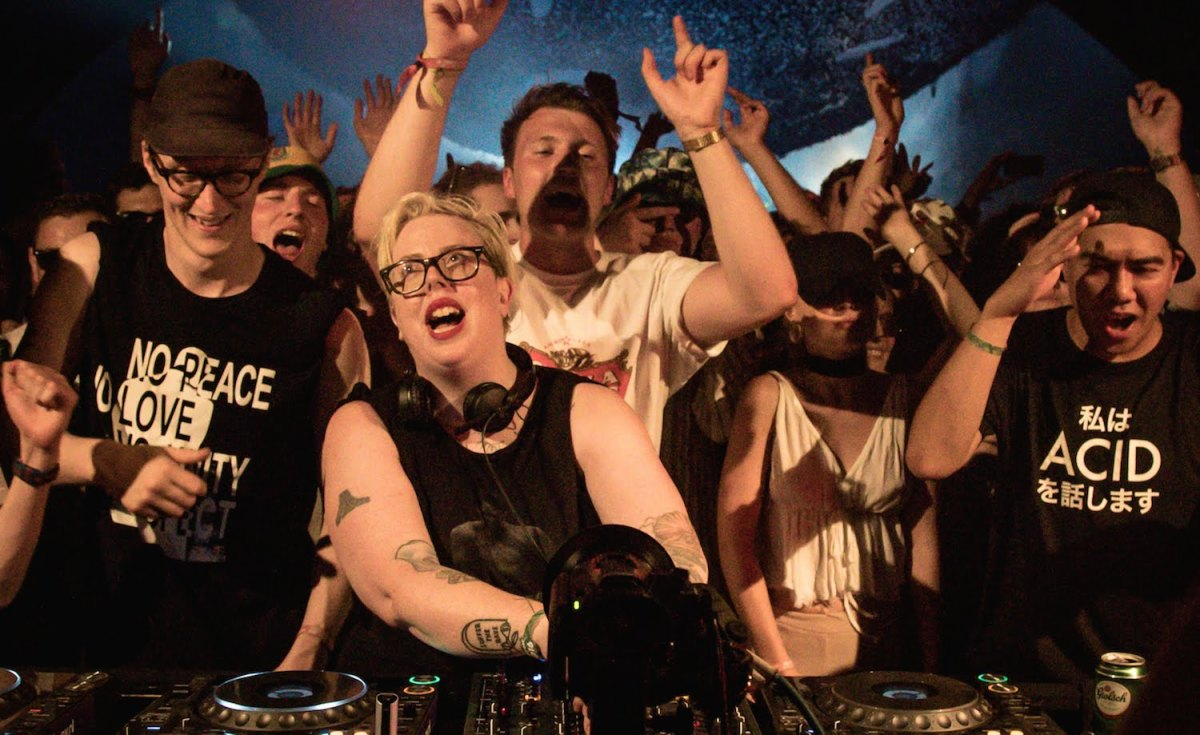 The Black Madonna delivering a sermon b2b with Mike Servito