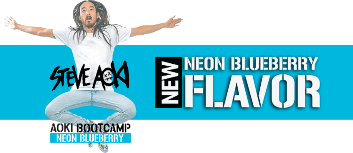 ENGN Shred New Flavor - Steve Aoki's Neon Blueberry for the Aoki Bootcamp