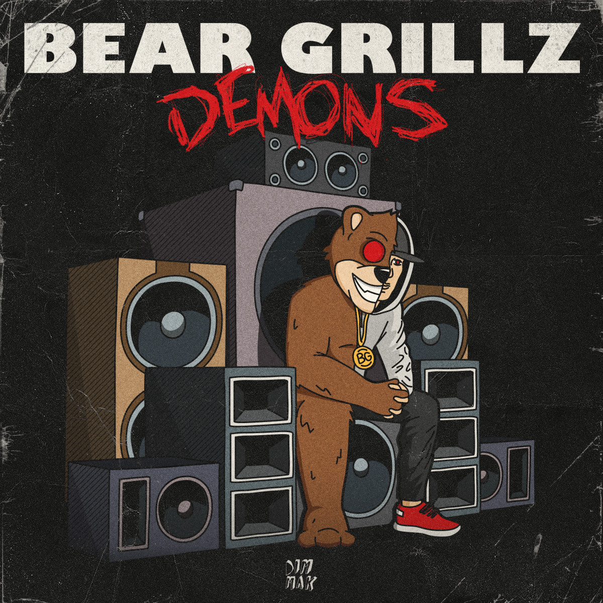 "Bear Grillz - ""Demons"" (Album Artwork) - Dim Mak Records"