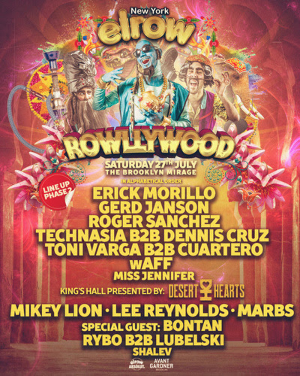 elrow phase 2 rowllywood lineup