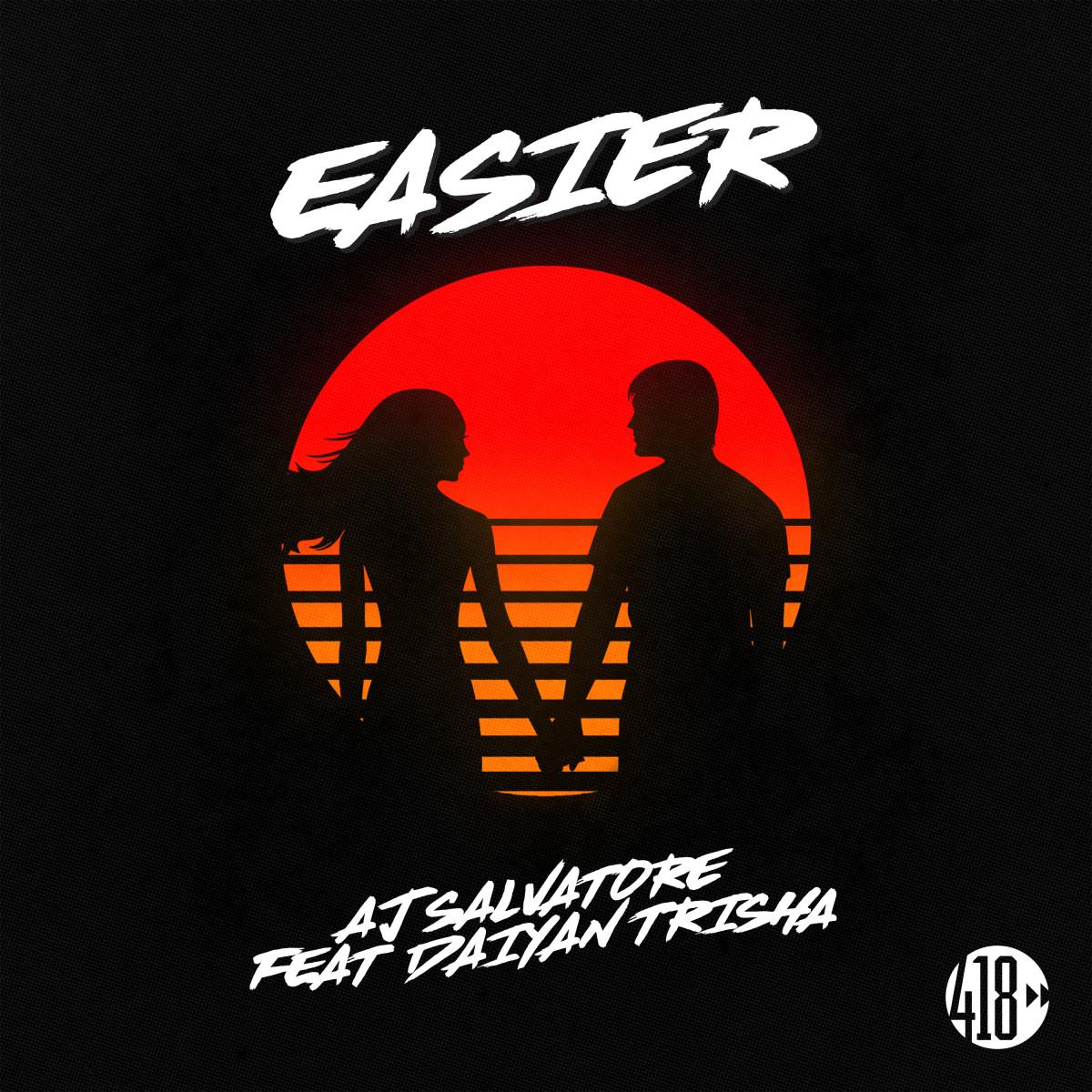 AJ Salvatore and Daiyan Trisha Easier Album Art