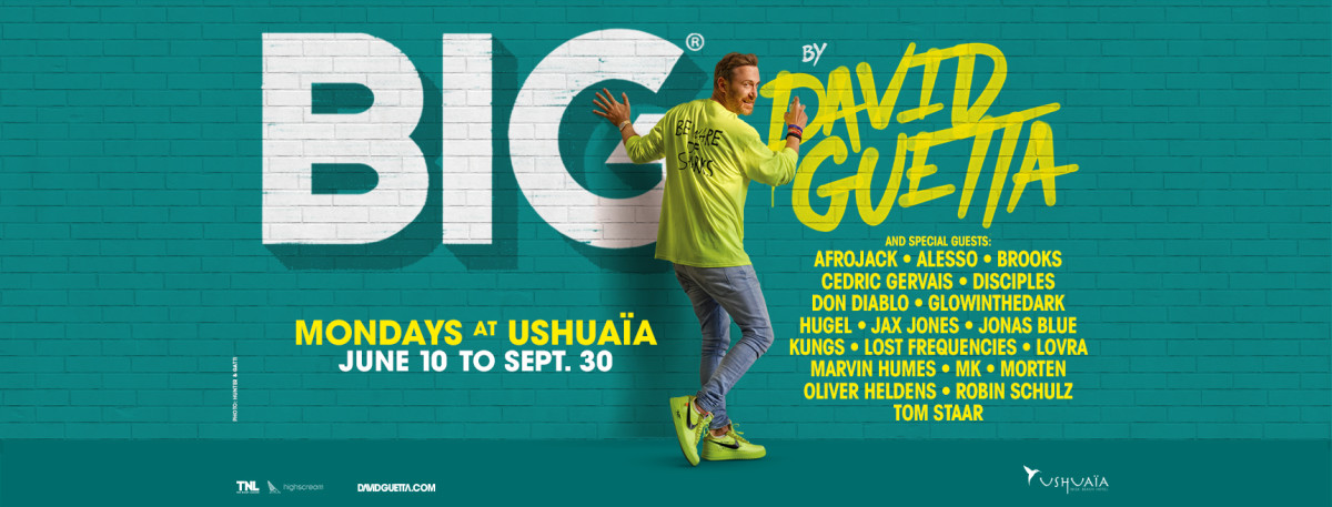 Big by David Guetta 2019 at Ushuaia Ibiza line-up