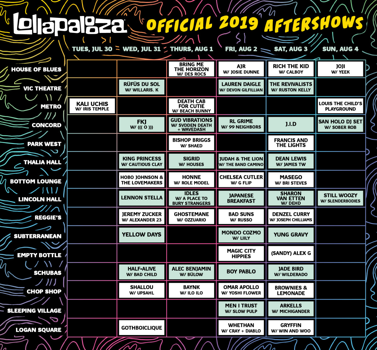 official after party lineup 2019