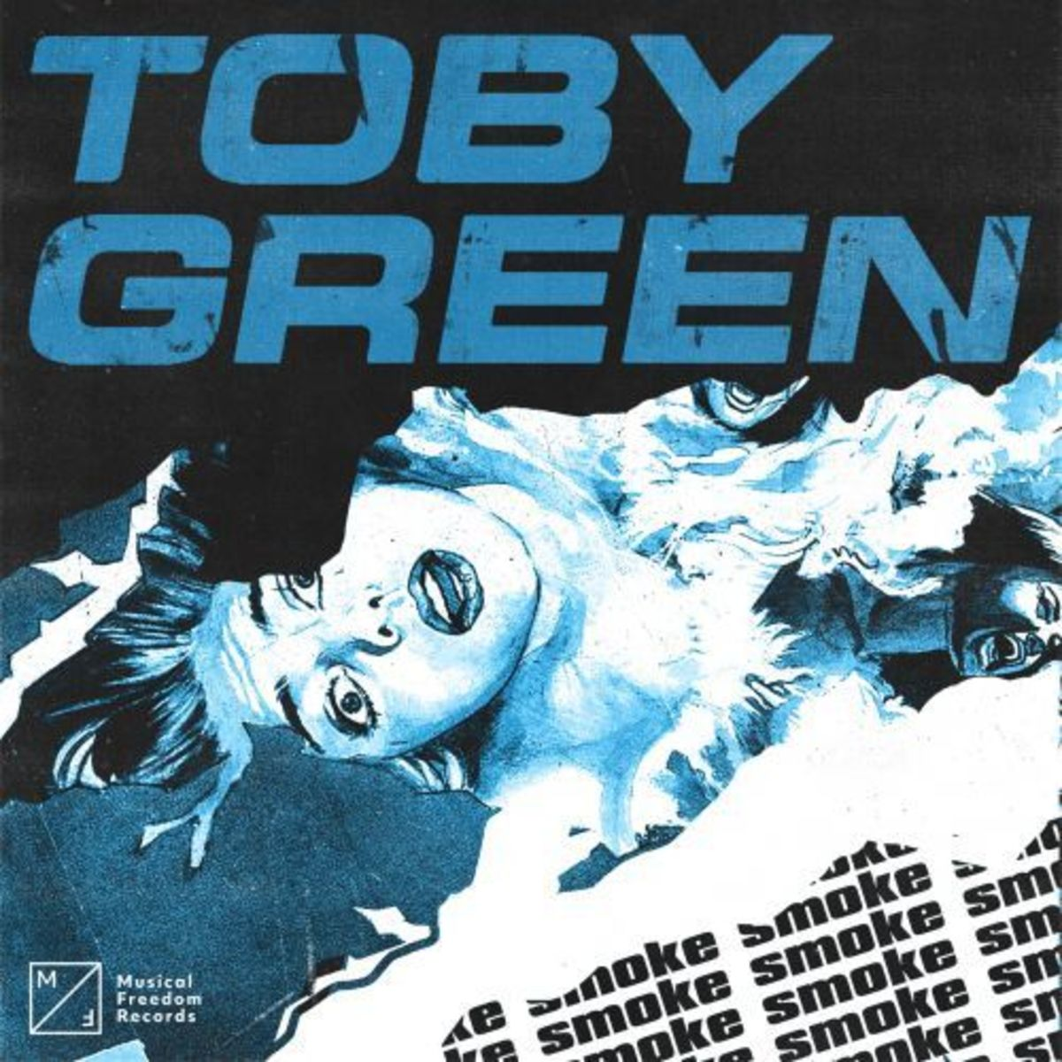 "Danish producer Toby Green's Album Art for Musical Freedom Single ""Smoke"""