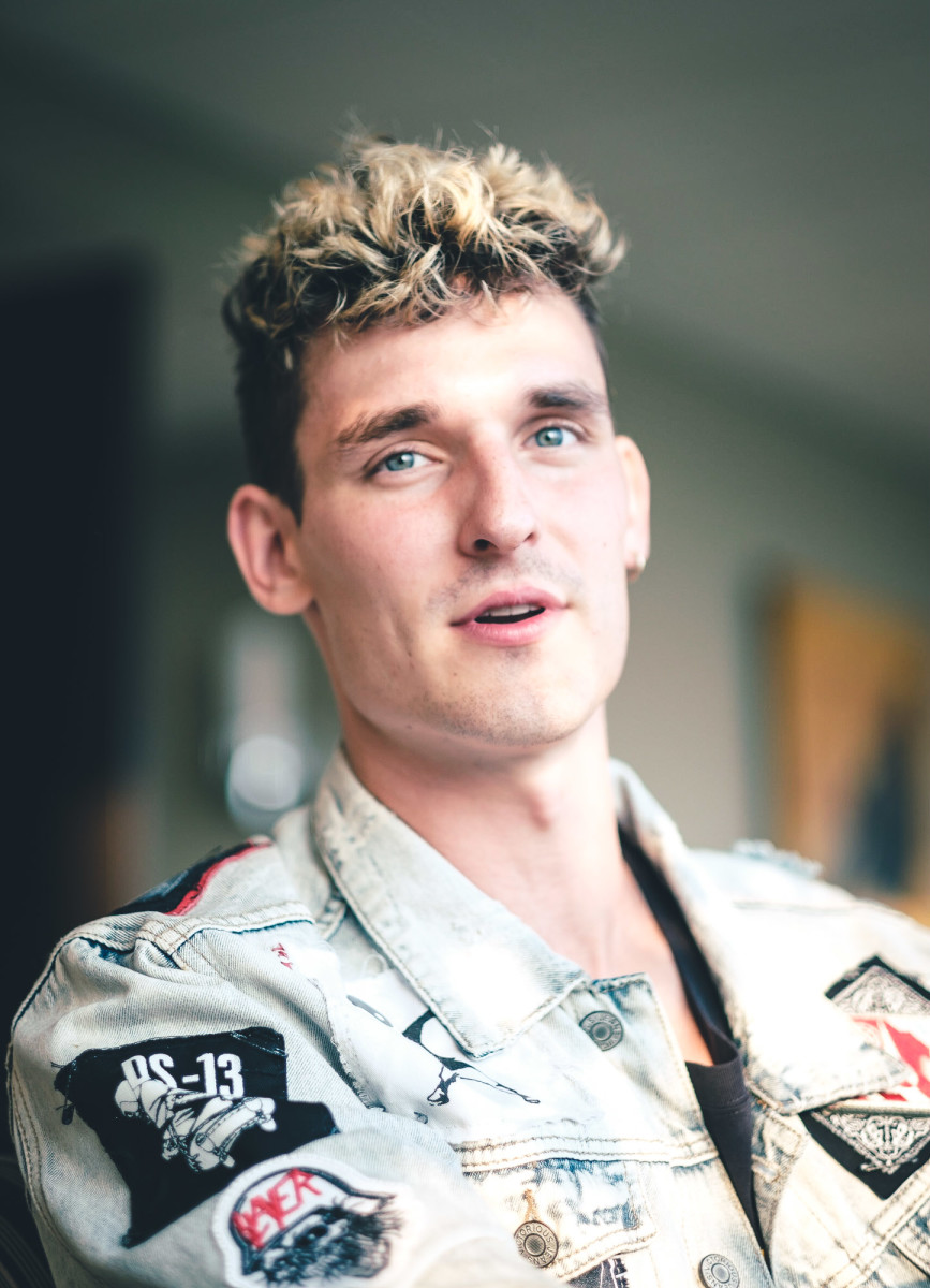 headshot of GRiZ in a denim jacket