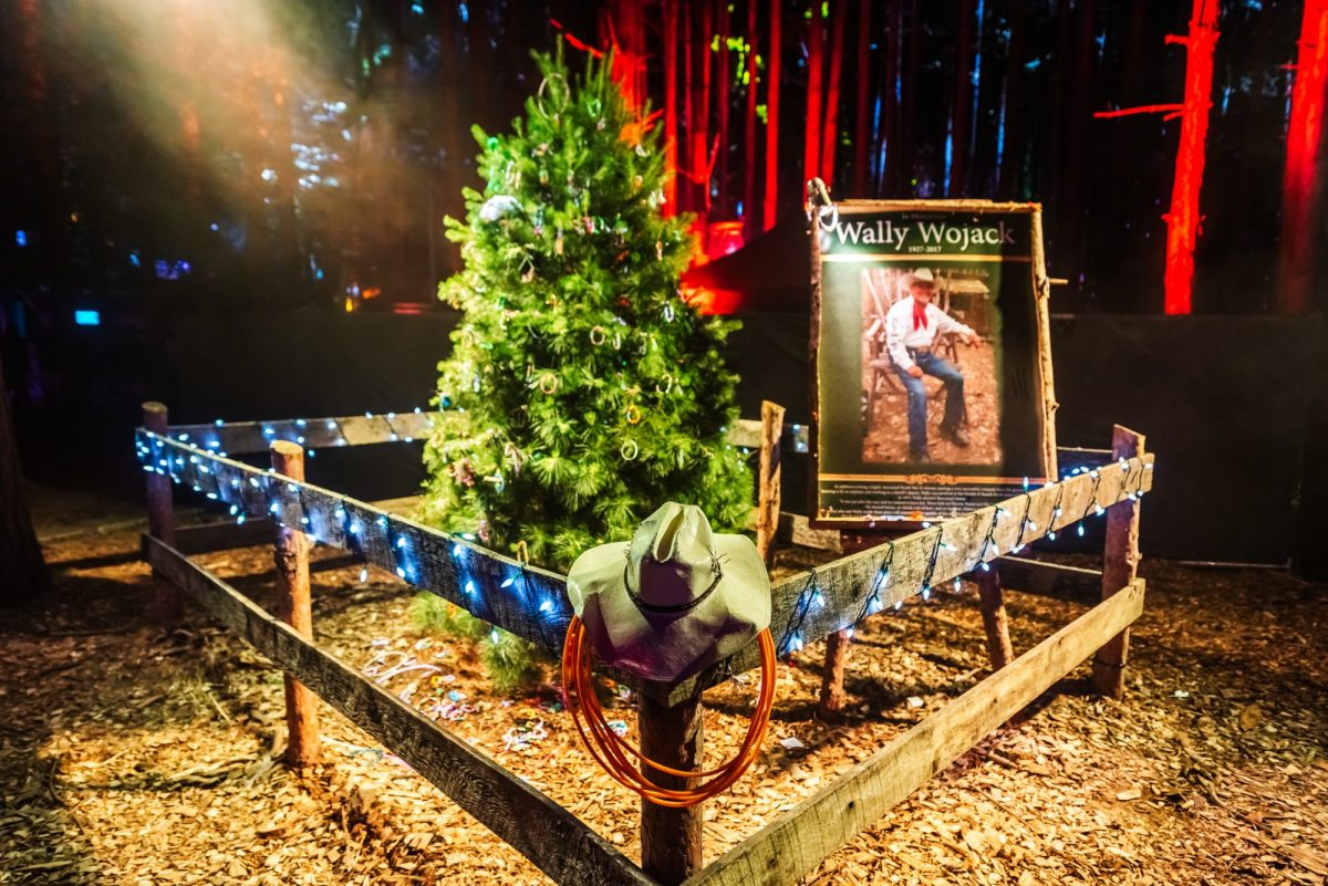 A fan made a wish for a celebration of one beloved Forest Family member and in 2018 the Wally Tree was born. It commemorates the man known to be Sherwood Forest's original Lorax, Wally Wojack.