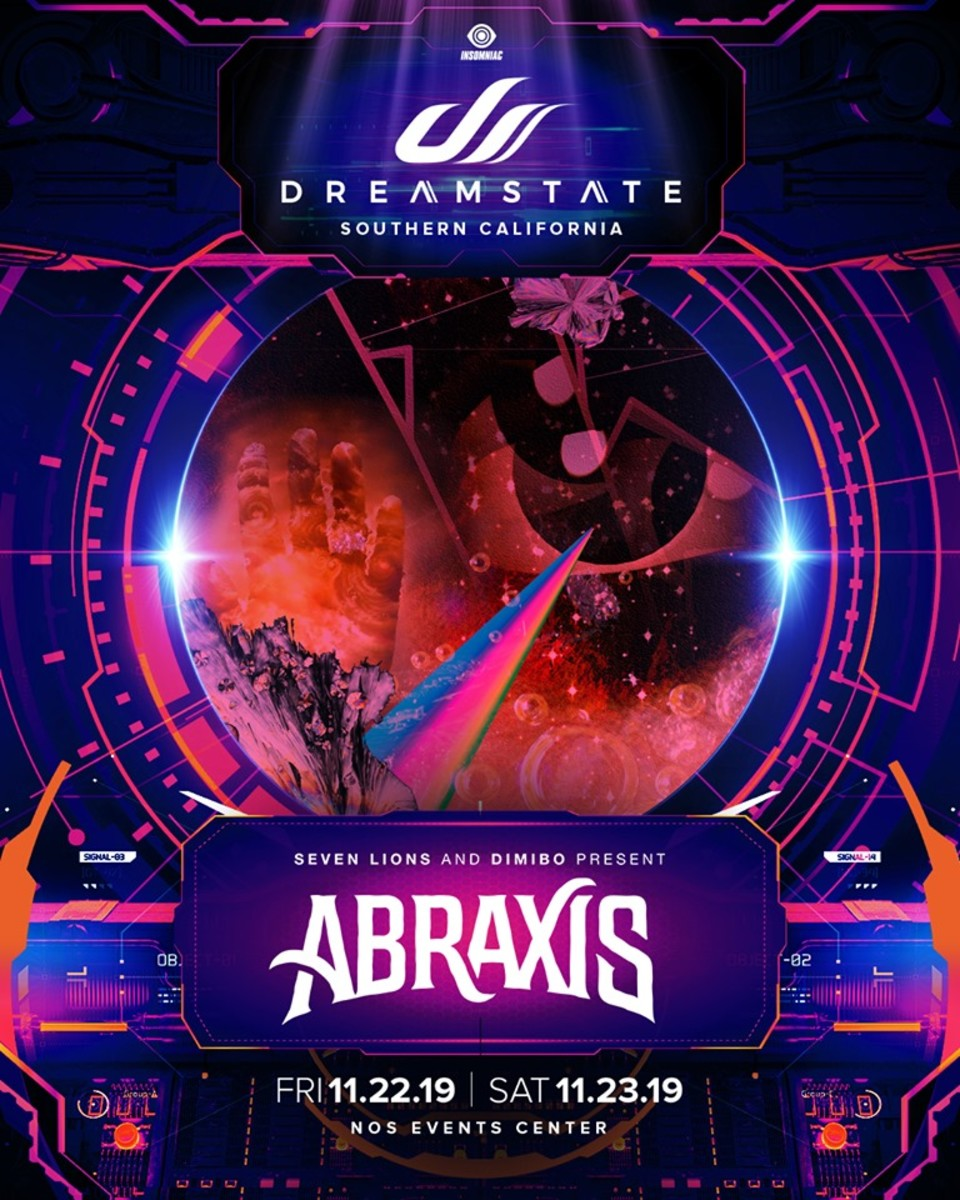 Dreamstate SoCal 2019 Seven Lions Dimibo Abraxis