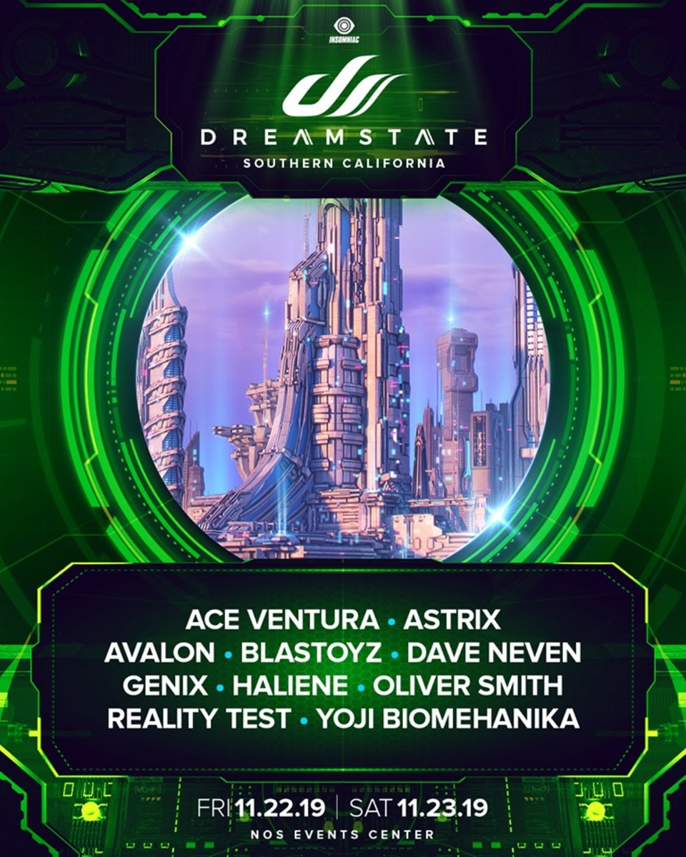 "The third lineup announcement ""batch"" for Dreamstate SoCal 2019."