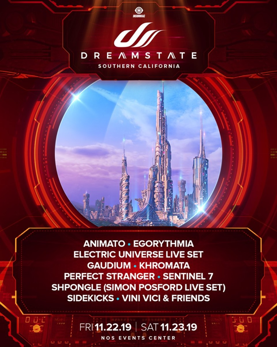 "The fourth lineup announcement ""batch"" for Dreamstate SoCal 2019."