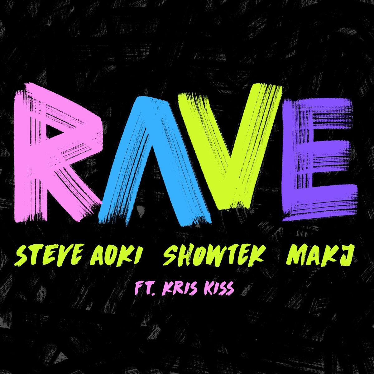Rave Steve Aoki Showtek Cover Art