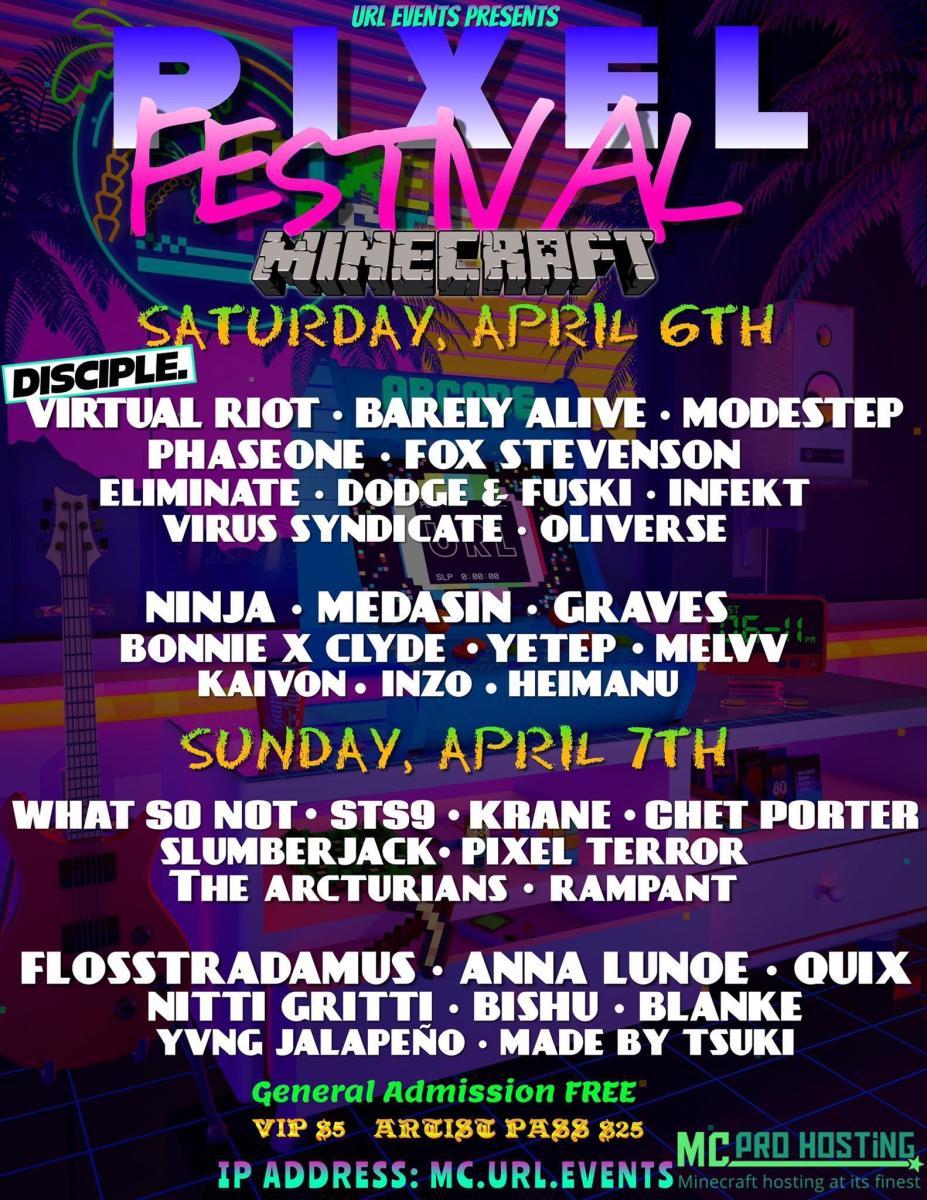 URL Events Presents: Pixel Festival (Minecraft)