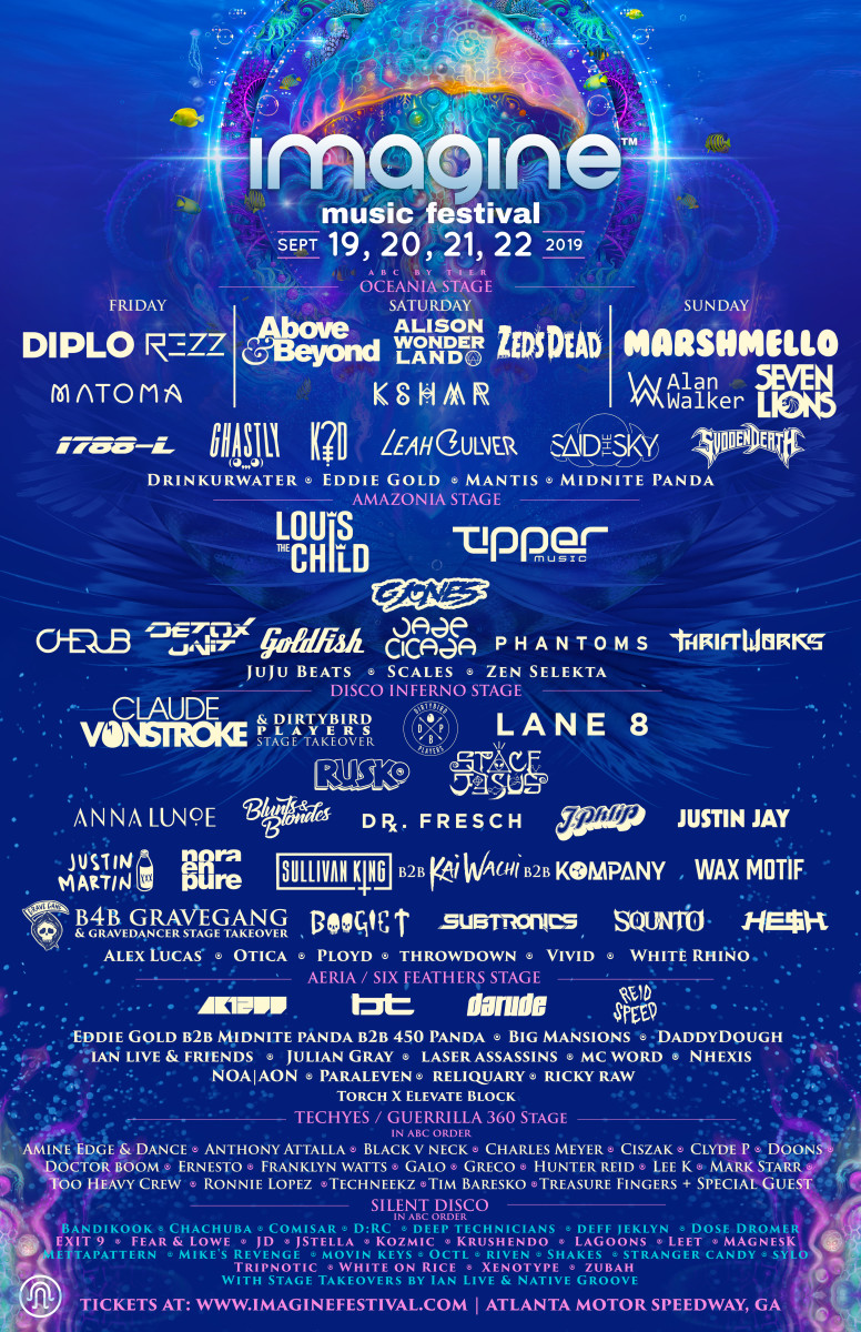 Imagine festival 2019 full lineup