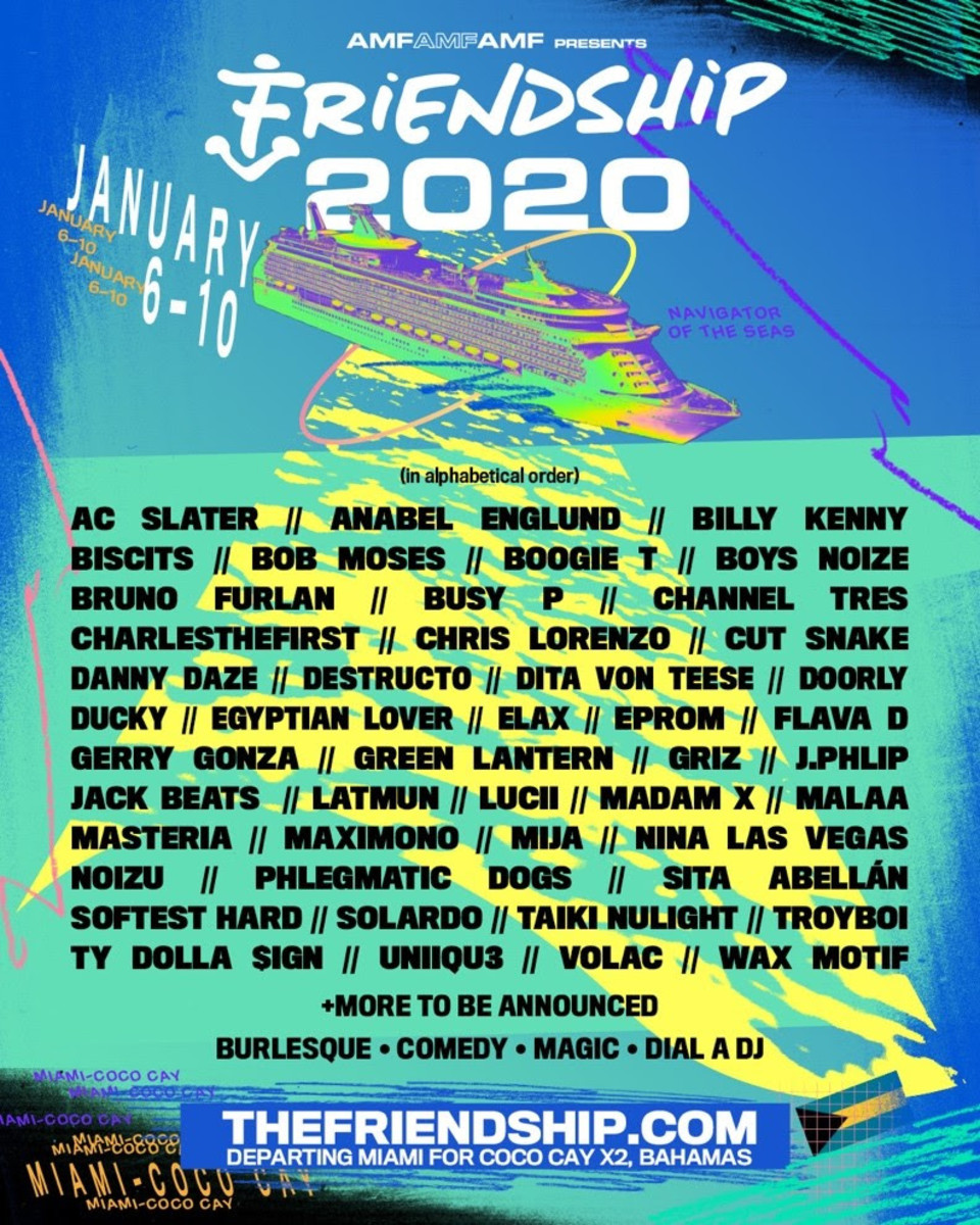 FriendShip 2020 Lineup