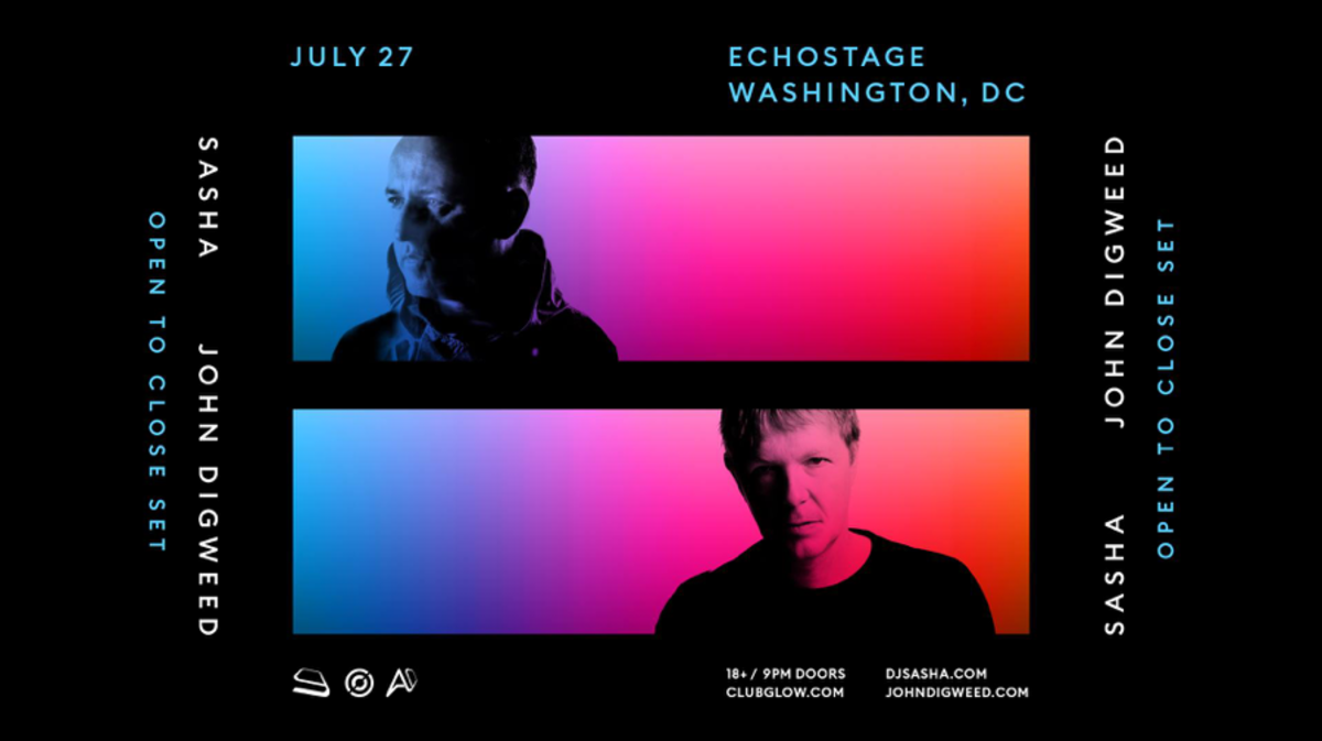 Sasha & John Digweed at Echostage in Washington, DC (Club Glow)