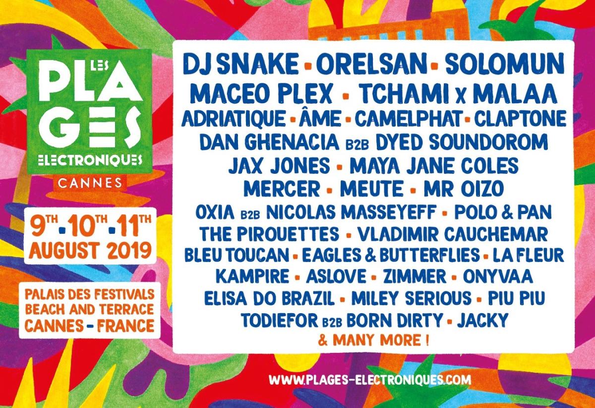 Les Plages Electroniques - Full Artist Lineup (DJ Snake, SOlomun, Maceo Plex, Tchami x Malaa, Mercer, Jax JOnes)