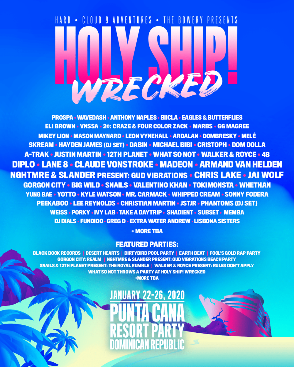 Holy Ship! Wrecked Lineup