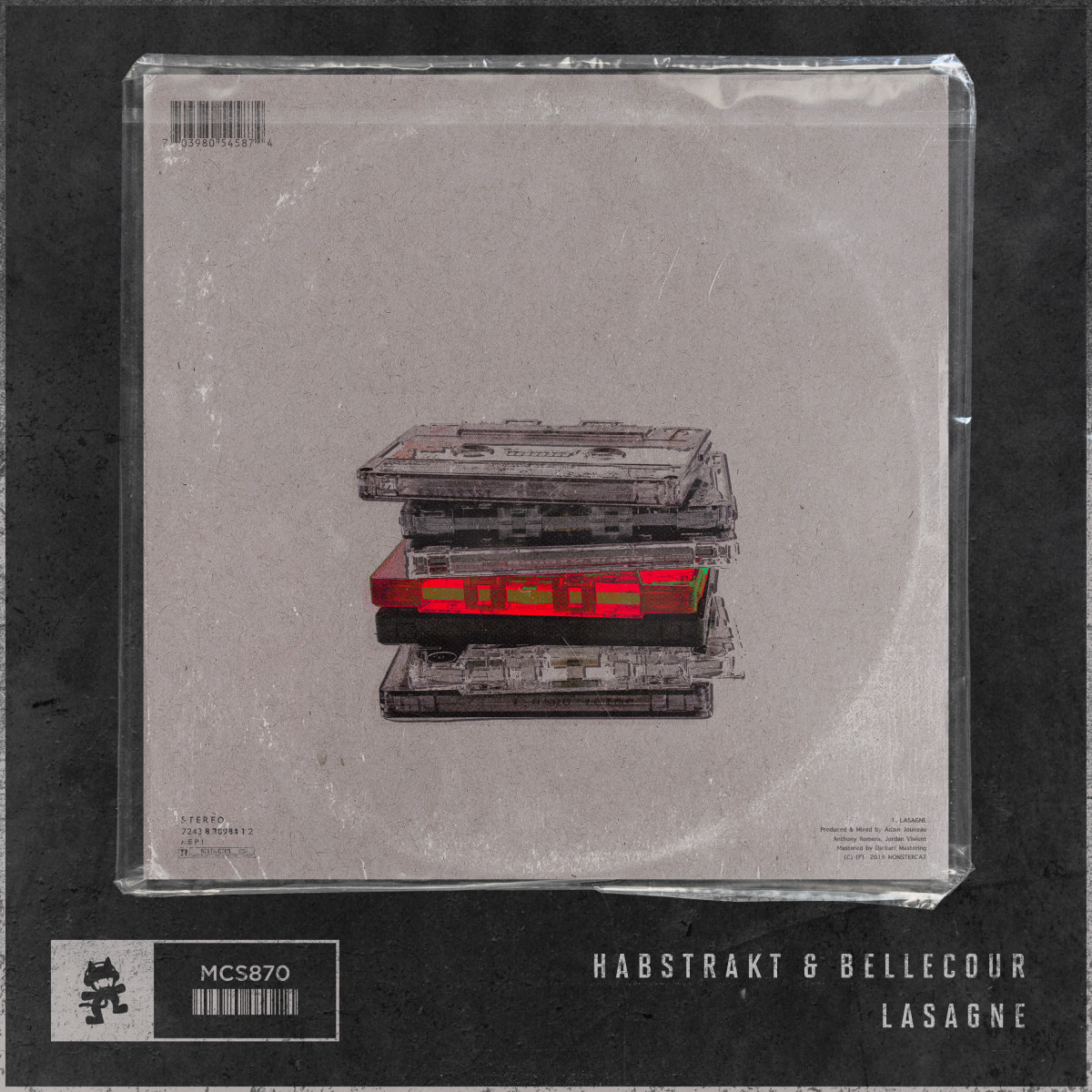 Habstrakt & Bellecour - Lasagne (Out Now on Monstercat) -- ALBUM ARTWORK