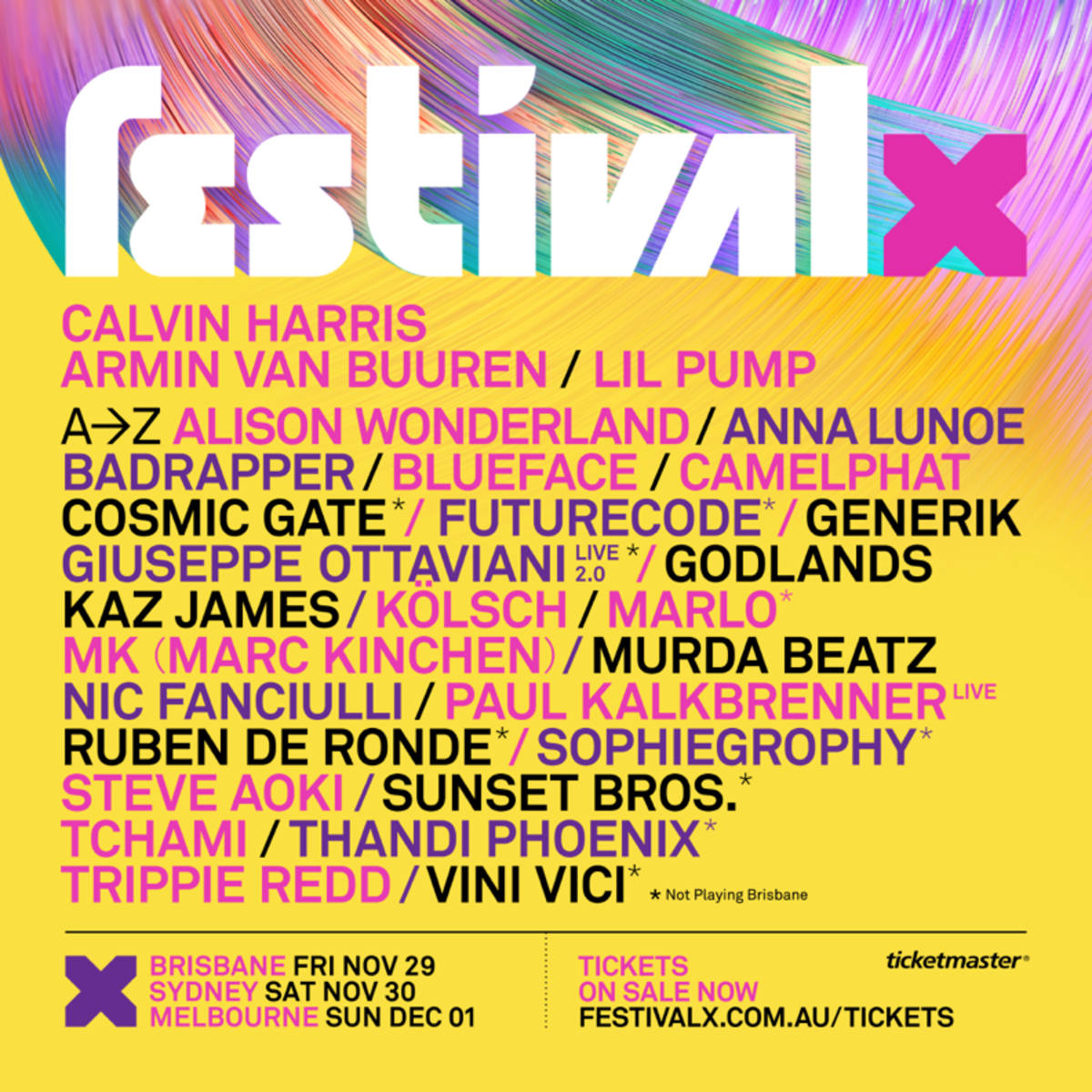 festival x lineup poster